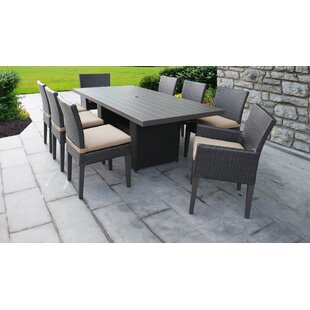 Meier 9 Piece Dining Set with Cushions
