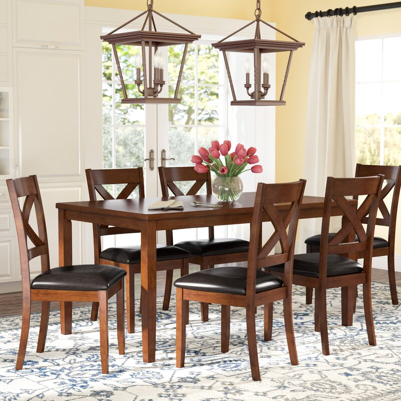 4be9a70384a5 Darby Home Co Nadine 7 Piece Breakfast Nook Dining Set   Reviews ...