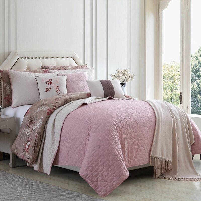 Ebern Designs Elta Reversible Comforter Set Reviews Wayfair Ca