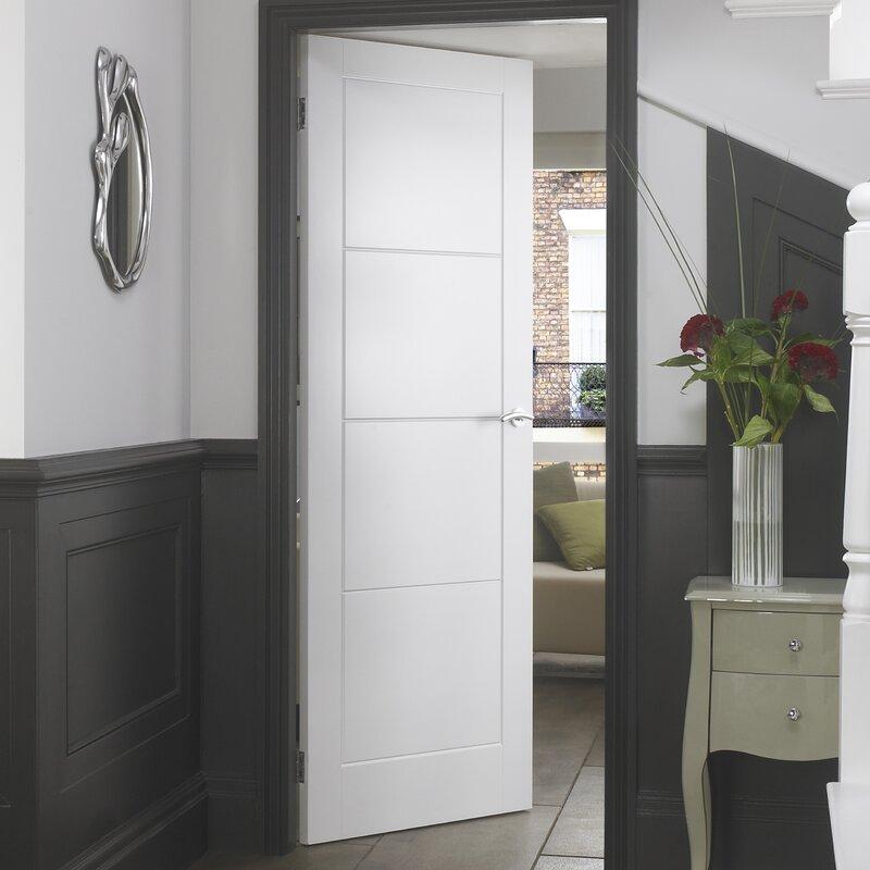 Panel White Interior Doors Smooth Internal Glazed Door Could