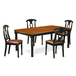 Pimentel 5 Piece Solid Wood Dining Set by..