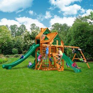 Gorilla Playsets Great Skye II Treehouse Swing Set