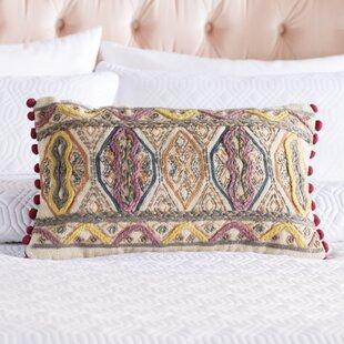 Fressia Geometric Cotton Lumbar Pillow Cover