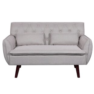 Nicolasa Linen Tufted Loveseat