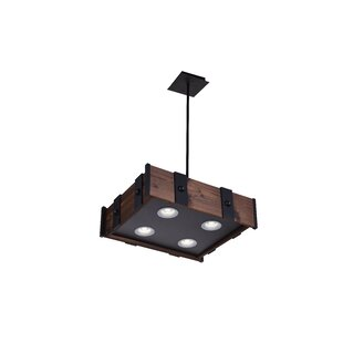Foundry Select Ruby 4-Light LED Drum Chandelier