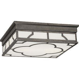 Robert Abbey Addison Square 2-Light Flush Mount