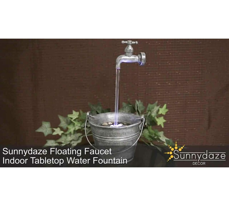 Wildon Home ® Floating Faucet Indoor Tabletop Water Fountain with ...