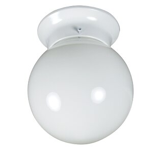 Winston Porter Brockhausen 1-Light Flush Mount