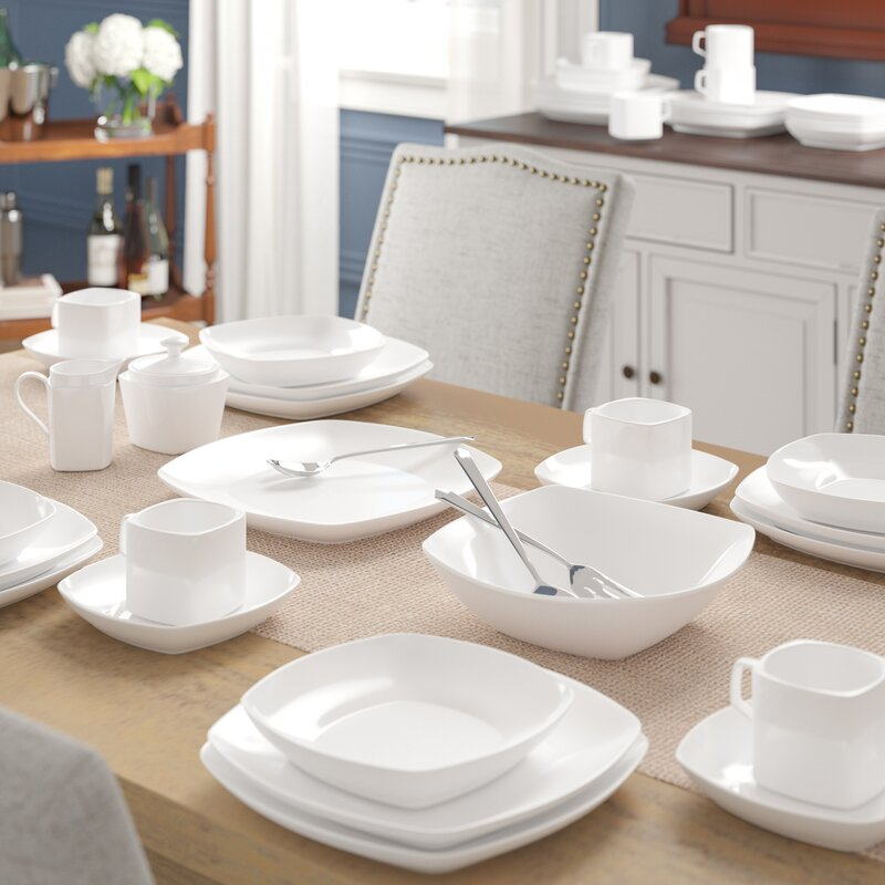 Filomena 45-Piece Dinnerware Set