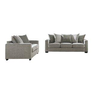 Quantico Luxury Modern Chenille 2 Piece Standard Living Room Set