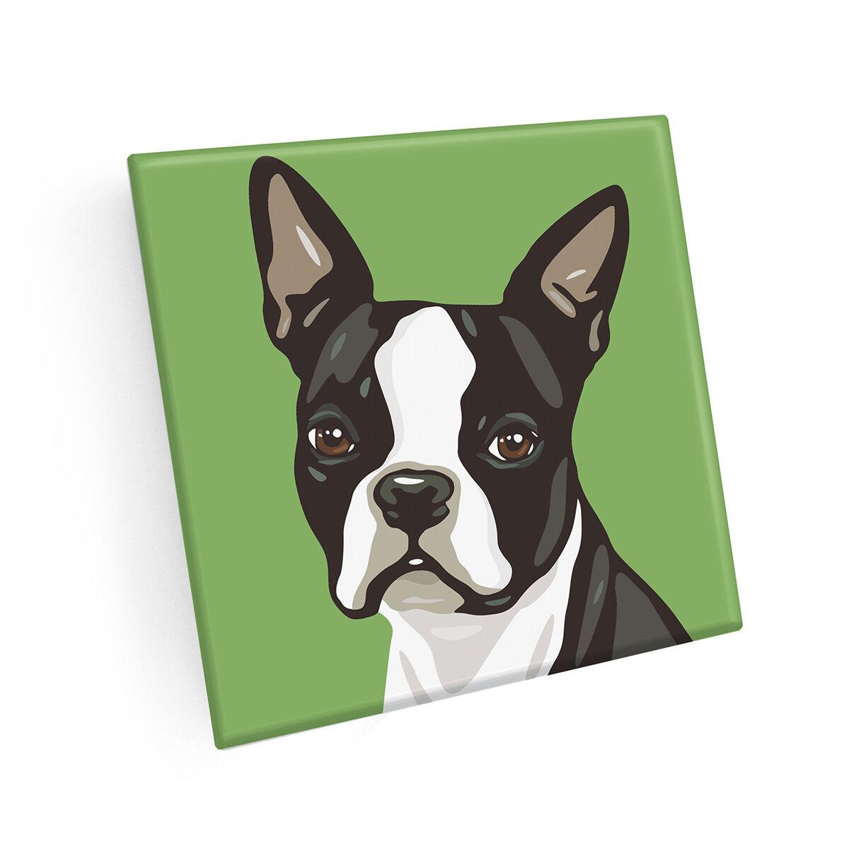 East Urban Home Pooch Boston Terrier Coaster Wayfair