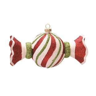 merry and bright swirl shatterproof christmas candy ornament - Candy Christmas Ornaments
