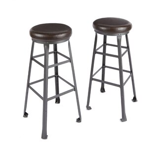17 Stories Josanna Industrial Bar Stool (Set of 2)