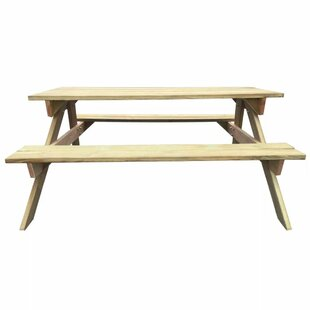 Cagle Wooden Picnic Bench By Sol 72 Outdoor