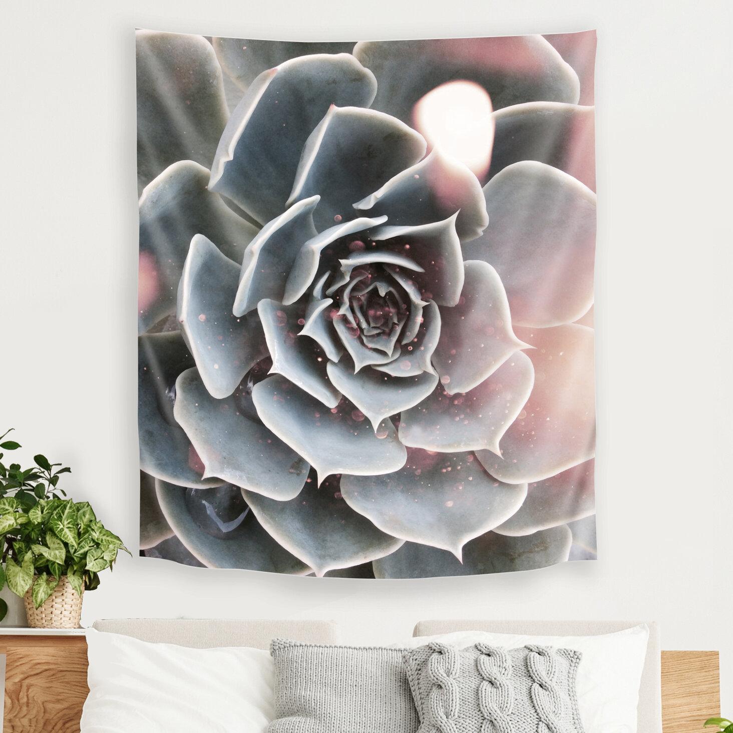 East Urban Home Shiny Succulent By Emanuela Carratoni Tapestry Wayfair
