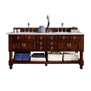 Reviews Castilian 72 Double Bathroom Vanity Base Only ByJames Martin Furniture