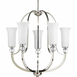 Red Barrel Studio Macced 5-Light Shaded Chandelier