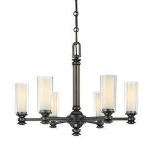 Harvard Court 6-Light Candle-Style Chandelier by Minka Lavery
