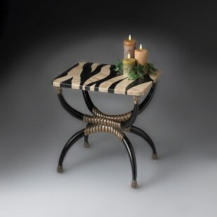 Compare Kaya Zebra End Table by World Menagerie
