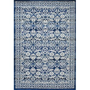 Plumville Dark Blue Area Rug
