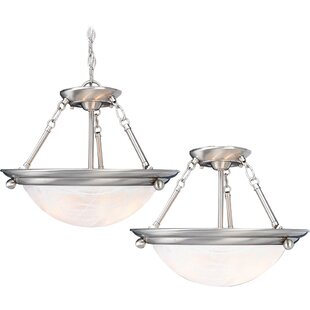 Volume Lighting Lunar 3-Light Pendant or Semi Flush Mount