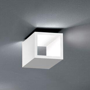 ZANEEN design Semi 1-Light LED Flush Mount