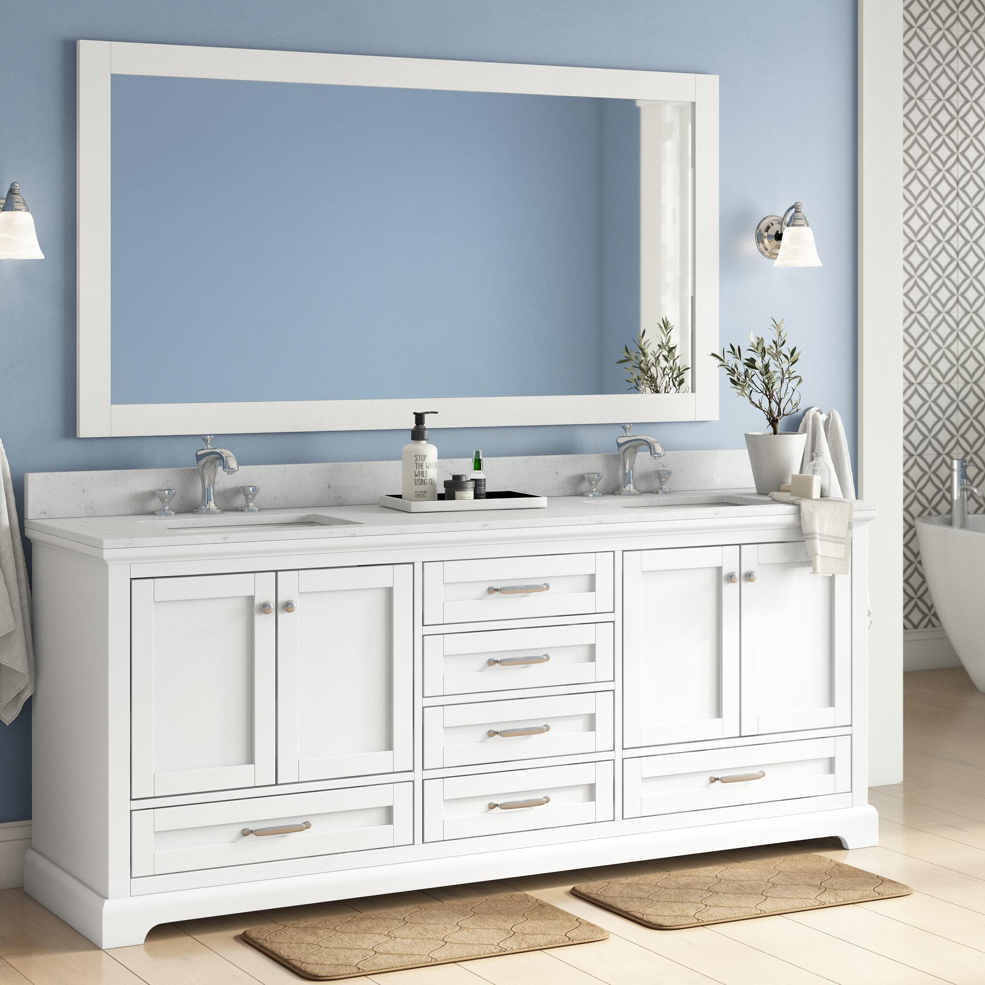 Red Barrel Studio Drumgurland 80 Double Bathroom Vanity Set Wayfair