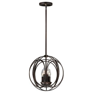 Wrought Studio Cahoon 4-Light Globe Chandelier