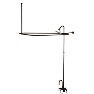 Compare prices Vintage Triple Handle Wall Mount High Rise Clawfoot Tub and Shower Package By Kingston Brass