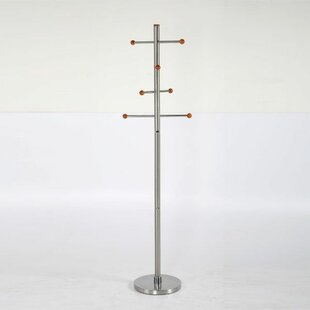 Latitude Run Menahan Stainless Steel Coat Rack