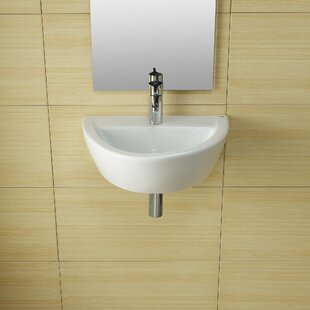 Purchase Universal Ceramic 20 Wall Mount Bathroom Sink By Bissonnet