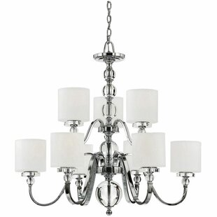 Best Reviews Christena 9-Light Shaded Chandelier By House of Hampton