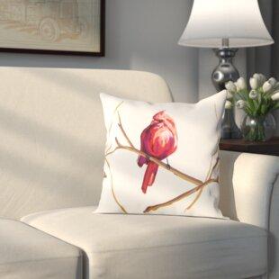 Hamburg Cardinal Print Throw Pillow