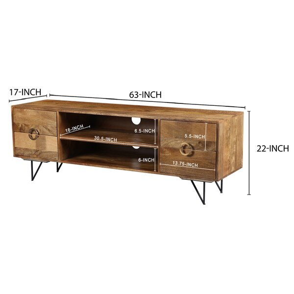 Union Rustic Rodin Solid Wood Tv Stand For Tvs Up To 75 Reviews Wayfair