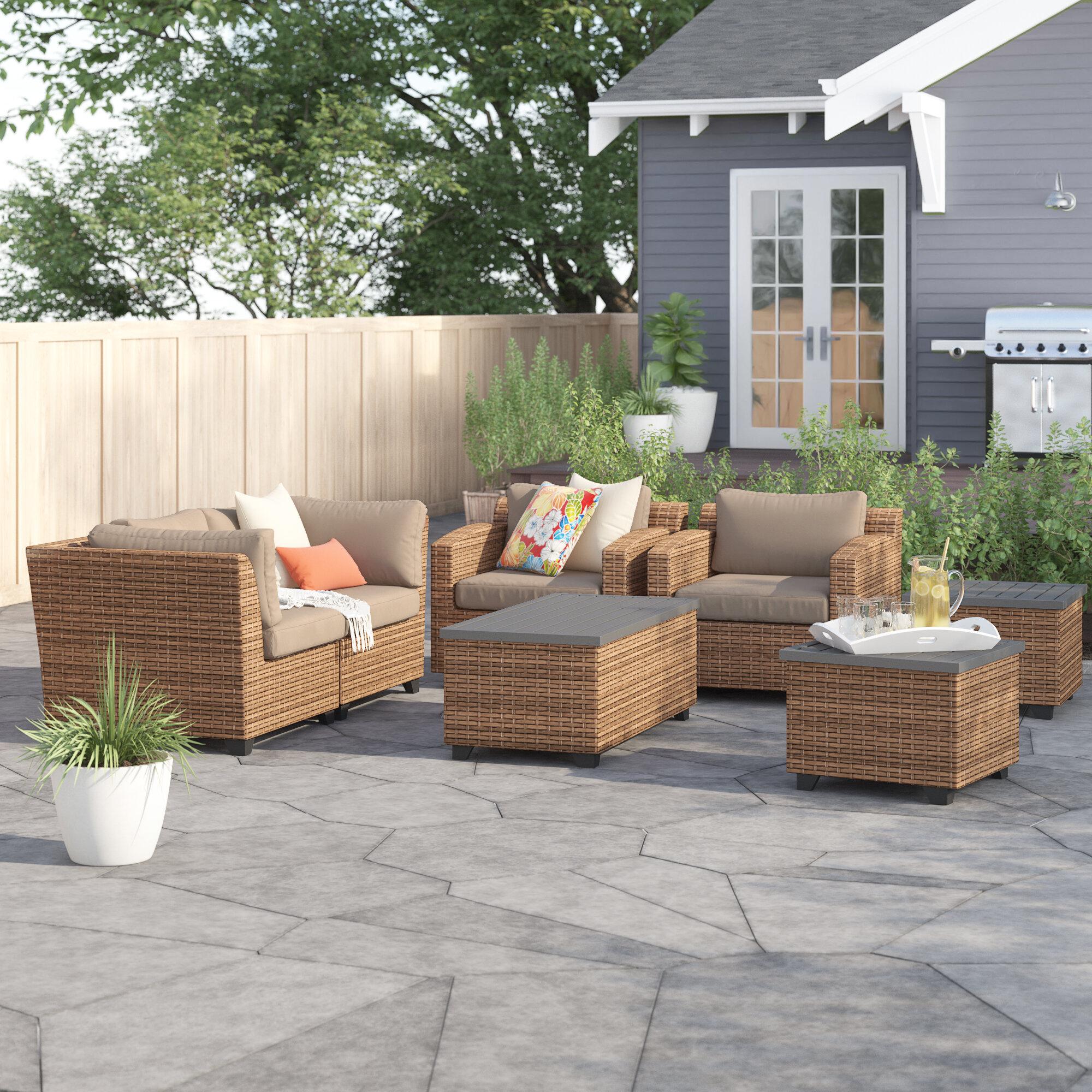 Sol 72 Outdoor Waterbury 7 Piece Sofa Seating Group With Cushions Wayfair