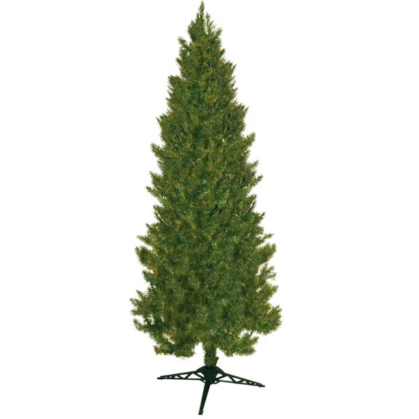the holiday aisle 84 green slim spruce artificial christmas tree reviews wayfair - Christmas Tree Slim