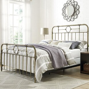 Wilhelmina Metal Pipe Queen Panel Bed by Laurel Foundry Modern Farmhouse