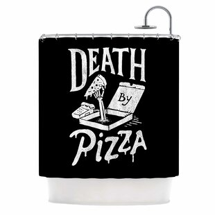 East Urban Home 'Death By Pizza' Food Shower Curtain