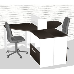 Triangular Corner 5 Piece L-Shaped Desk Office Suite by TeamCENTERoffice Wonderful