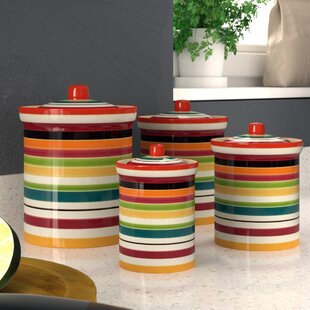 Wolfe Kitchen 4 Pieces Canister Set (Set of 4)