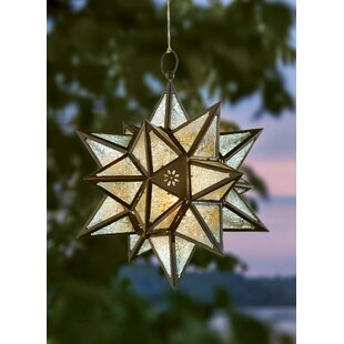 Affordable Exotic Star Iron/Glass Lantern By Mistana