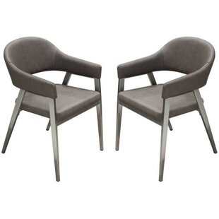 Izidora Leatherette Armchair (Set of 2) by Orren Ellis