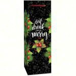 Holiday Be Merry Single Bottle Carrier