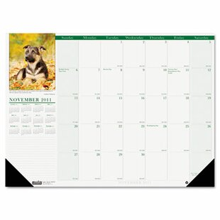 House of Doolittle Puppies Photographic Monthly Desk Pad Calendar