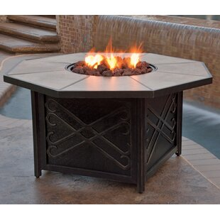 Hazelwood Home Jeremiah Gas Fire Pit Table