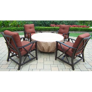 Charleston 5 Piece Conversation Set with Cushions by Oakland Living