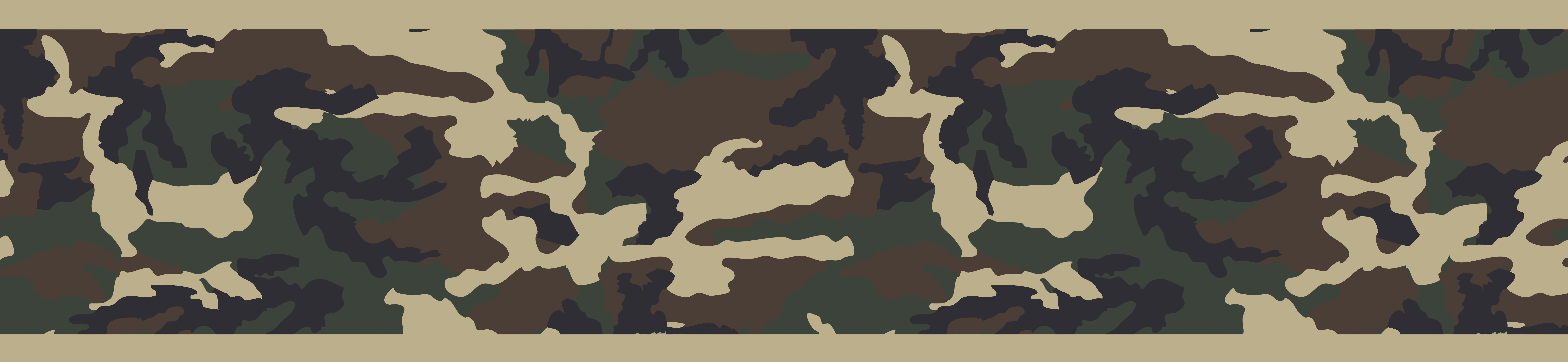 Sweet Jojo Designs Camo 15 X 6 Abstract Border Wallpaper