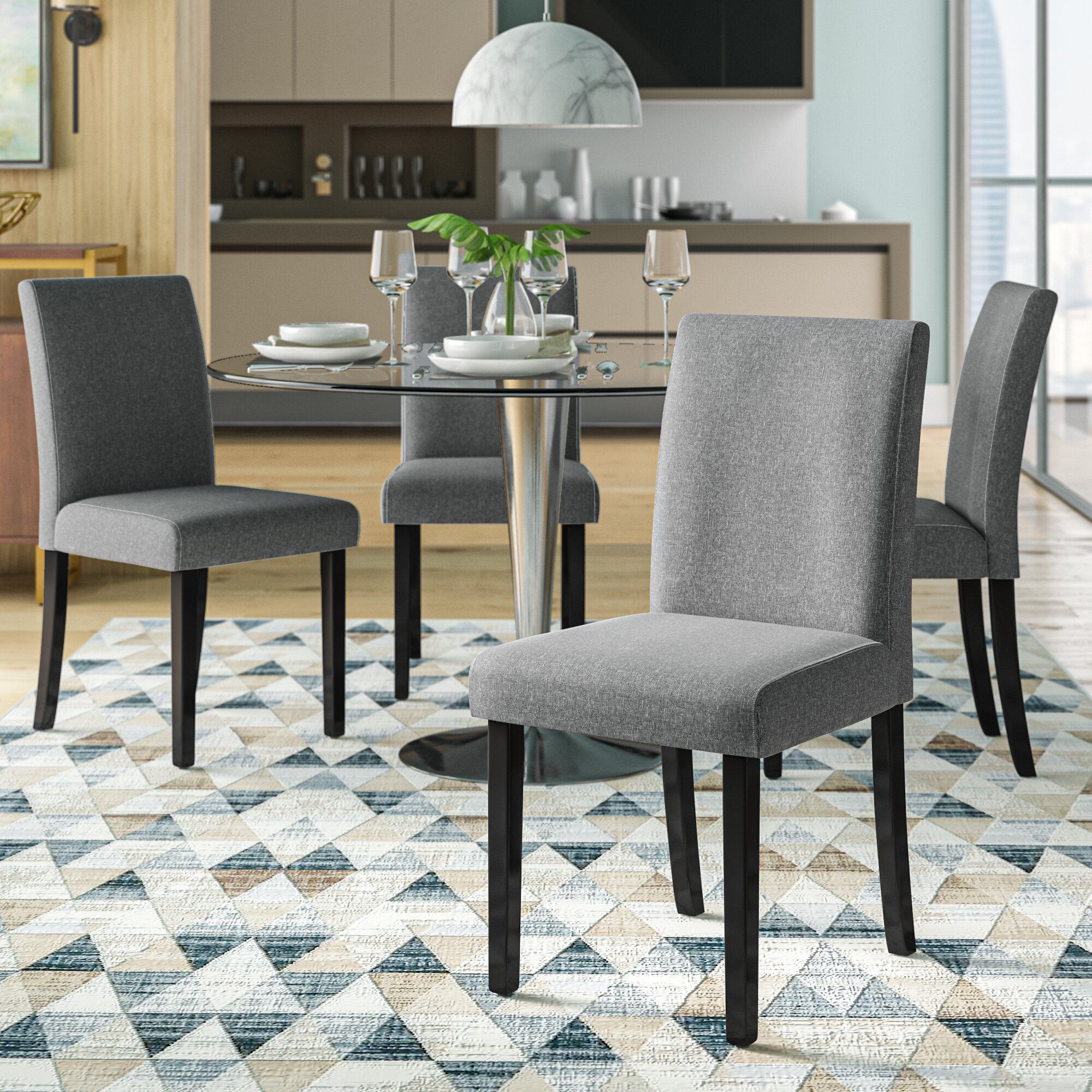 Parsons Upholstered Kitchen Dining Chairs You Ll Love In 2021 Wayfair