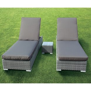 Blanch Double Sun Lounger Set With Cushion And Table Image