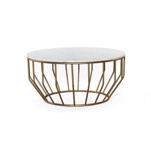 Bledsoe Gold Leaf Coffee Table by Brayden Studio